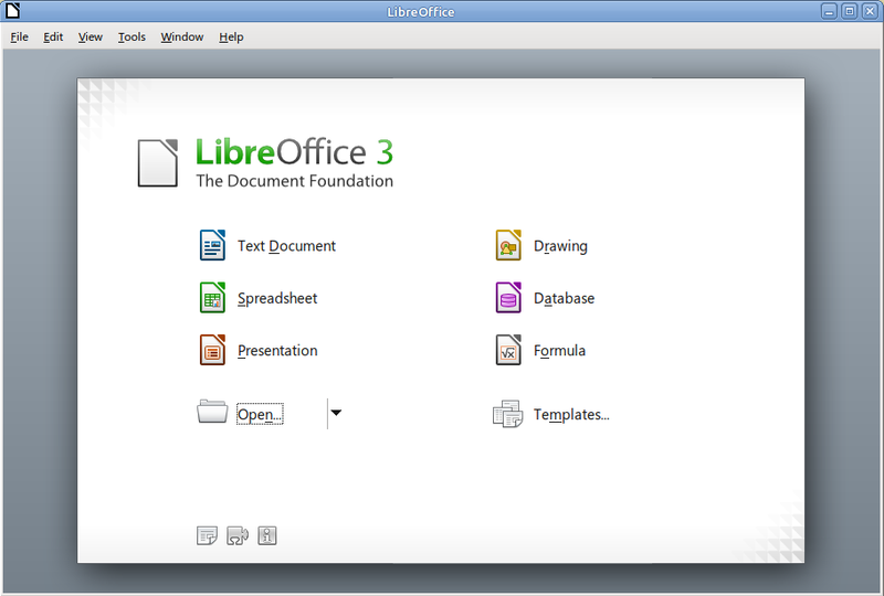 LibreOffice screen
